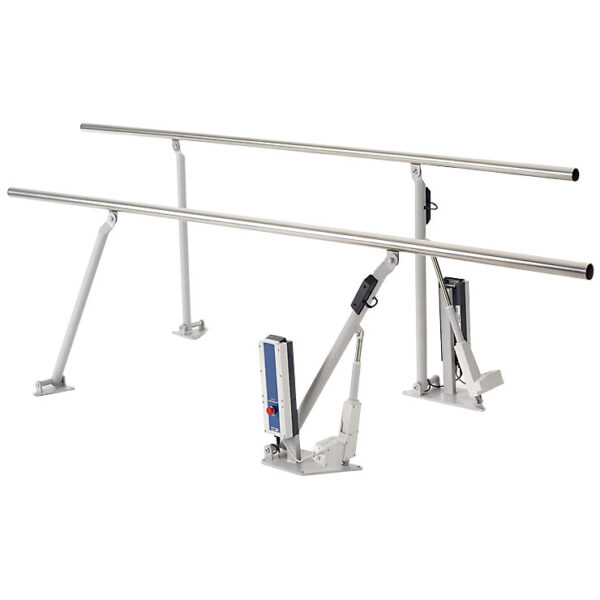 HealthTec Electric Height Adjustable Parallel Walking Rails One Side lowered