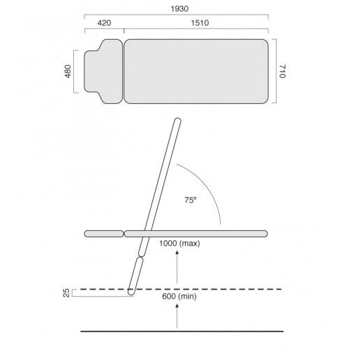 HealthTec sx tilt Table 1 Section Drawing