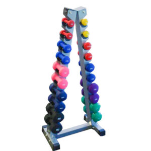 TheraKit PVC Dumbell 10 Pair Triangle Stand