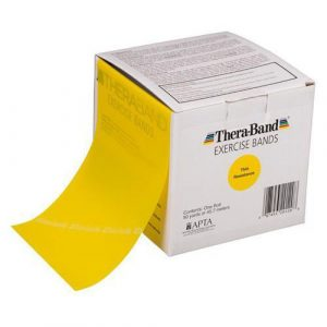 Theraband 46m Yellow Light Band Box