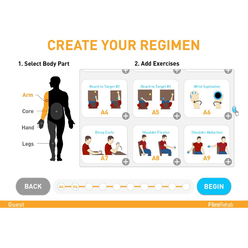 FlintRehab Fitmi Clinic Display CreateYourRegimen 1024x1024px