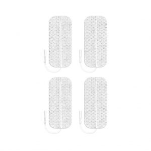 Pals ValuTrode Cloth Electrode 4x9cm 1.5x3.5 Rectangle 4 Pack 1024x1024px