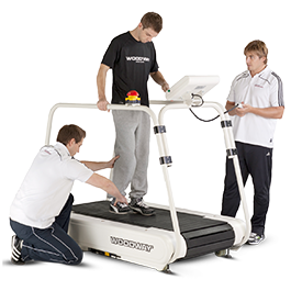 Woodway PPS Med Treadmill Patient w2Helpers HERO 265x265