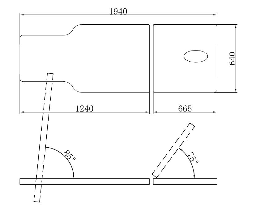 Cubic Tilt Table 2 Section Diagram1