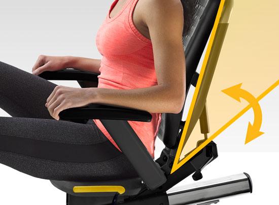 INNOFIT R5i Recumbent exercise bike Seat Adjustment