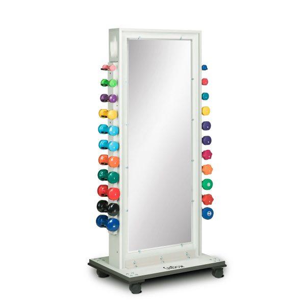 Cubic Storage Mirror Treatment Rack Back 1200