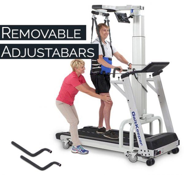 LiteGait GaitKeeper GKS22 Treadmill Removable HandleBars